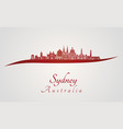 Sydney v3 skyline in red