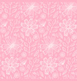 tender pink pattern with spring flowers vector image vector image