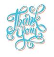 thank you handwritten lettering inscription vector image vector image