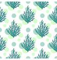 underwater seaweed pattern seamless background vector image vector image