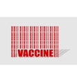 Vaccine text and bar code from relative words vector image vector image
