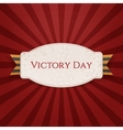 Victory Day Realistic Holiday Banner Template vector image