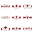 Canada Day realistic Banners Set vector image