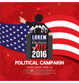 Political Campaign Banner vector image