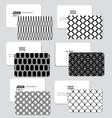 Modern simple business card template illus vector image