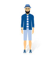 a caucasian young hipster man with the beard vector image