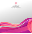 abstract colorful pink waves with pattern lines vector image vector image