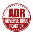 ad adverse drug reaction grunge rubber stamp vector image vector image