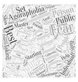Agoraphobia Word Cloud Concept vector image vector image