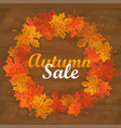autumn sale text banner with colorful seasonal vector image vector image