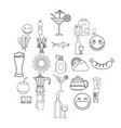 beer belly icons set outline style vector image vector image