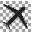 Black Plane icon on transparent vector image vector image