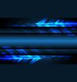blue light arrow technology with blank space