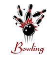 Bowling emblem or logo vector image vector image