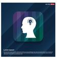 bulb concept creative idea icon vector image