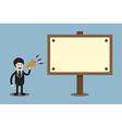 businessman announcement at board vector image vector image