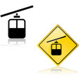 cable car sign and icon vector image vector image