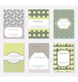 Cards and patterns set vector image vector image