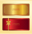 chinese style gift certificate voucher gift card vector image