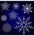 Christmas Snowflakes set vector image vector image