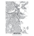 city map boston travel poster design vector image vector image