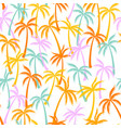 coconut palm tree pattern seamless background vector image