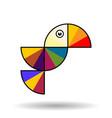 colorful bird in flight vector image vector image