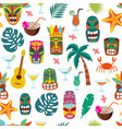 colorful tiki mask and hawaii vacation symbol vector image vector image