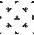 crown king pattern seamless black vector image vector image
