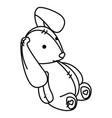 cute teddy rabbit icon vector image