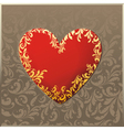 decorated golden heart vector image vector image