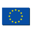 europe flag vector image vector image
