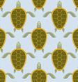 Flock of sea turtles Water turtle seamless pattern vector image