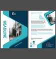 flyer template with geometric design vector image vector image