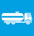 fuel tanker truck icon white vector image vector image