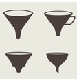 Funnel icon vector image vector image