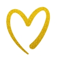 gold paint heart love sign symbol logo vector image vector image