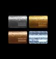 gold silver bronze vip premium member cards vector image vector image