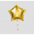 golden star balloon isolated transparent vector image