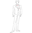 Groom sketch vector image vector image