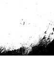 grunge black textures on white background vector image vector image