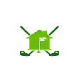 home golf logo icon design vector image