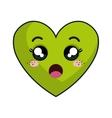 kawaii cartoon heart vector image vector image