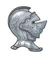 knight helmet sketch