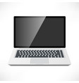 laptop front view vector image vector image