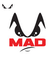 m letter mad man symbol vector image