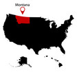 map us state montana vector image vector image