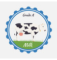 milk and creamery label emblem vector image