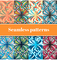 Mosaic Seamless Patterns Set vector image vector image