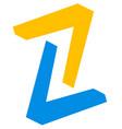 pair of arrowheads arrow logo arrow icon with 2 vector image vector image